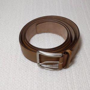 "46"" tan leather belt"